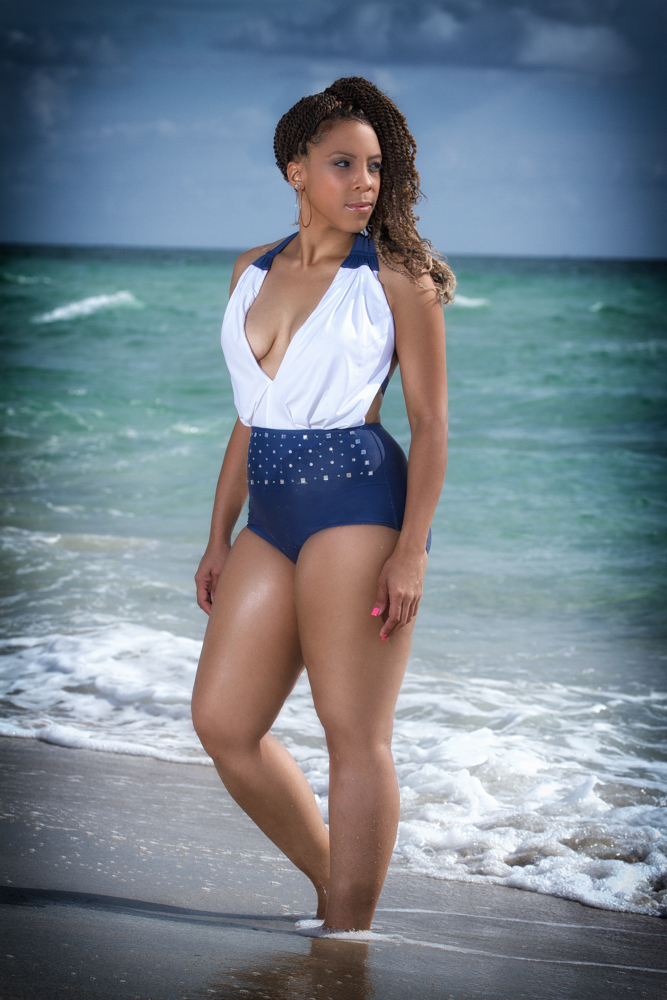 Swimsuit photography photo of model by Shawn Brooks